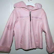 Ugg Australia Pink Hand Painted Girls Coat Acrylic 5t Photo