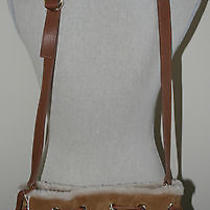 Ugg Australia Quinn Small Drawsting Chestnut Suede Bag Handbag New Ds001 Purse Photo