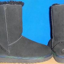 Ugg Australia Rock Grunge Black Classic Short Boots Size Us 7 Eu 38 New 1007491 Photo