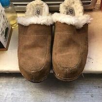 Ugg Australia S/n 5243 Kalie Brown Suede Sheepskin Clogs Mule Sz 6 Photo