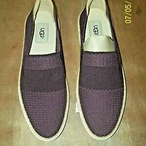 Ugg Australia Sammy  Sneakers Slip on Textile Upper Ladies Size 10 Wine Nib Photo