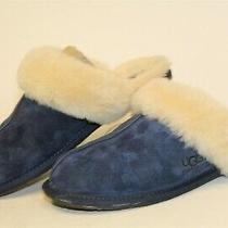 Ugg Australia Scuffette 5661 Womens 10 41 Blue Suede Slip on Slippers Shoes  Photo