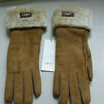 Ugg Australia Shearling Turn Cuff Gloves Large Nwt Photo