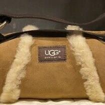Ugg Australia Sheepskin Fur & Suede Leather Handbag Chestnut Photo