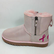 Ugg Australia Shiny Classic Pink Ribbon 1007515 Boots Baby Pink Size 7 Us. Photo