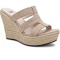 Ugg Australia Shoes Tawnie Sand Wedges Size 9 Suede Espadrilles Sandals Nib Photo