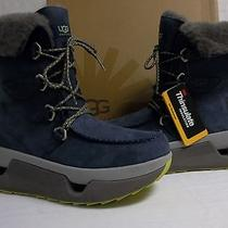 Ugg Australia Size 12 M Auden Navy Ankle Winter Boots Leather New Mens Shoes Photo