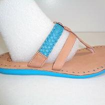Ugg Australia Size 7 Audra Surf Blue Leather Braid Sandals New Womens Shoes Photo