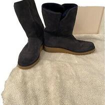 Ugg Australia Size 8.5 Kristen Boots Blue Women's Short Wedge 1012497 Photo