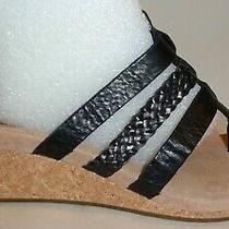 Ugg Australia Size 8 Maddie Black Leather Wedge Heel Sandals New Womens Shoes Photo