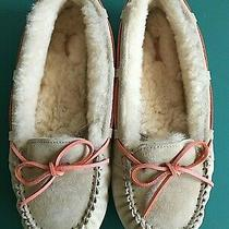 Ugg Australia Size 9 Pink/tan Driving Moccasin Slippers Women Shoes 3050 Photo