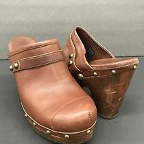 Ugg Australia Size 9 Womens Brown Jolene Mules Heels Shoes Sn-3208 Photo