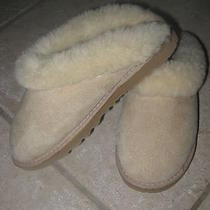 Ugg Australia Slippers in Tan Wool Sz 5 Euc Photo