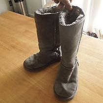 Ugg Australia Soft Sheepskin Insulated Suede Leather Winter Fashion Boots Size 6 Photo