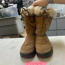 Ugg Australia Suede Leather Ultimate Cuff Womens Tie Boots Chestnutn5273 Sz 7 Photo