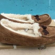 Ugg Australia Suki Suede/ Sheepskin Women's Moccasin Slippers Chestnut Sz 6 Photo