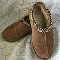 Ugg Australia Tasman - 5955 Leather Upper Sheepskin Tan Size W6 Slip-On Photo