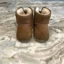 Ugg Australia Toddler Baby Girl Brown Jesse Bow Ii Booties Size 4/5 Boots Pink Photo