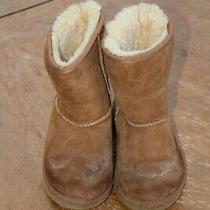 Ugg Australia Toddler Girl Chestnut Suede Sheepskin Classic Ii Boots 5251t Sz 9 Photo