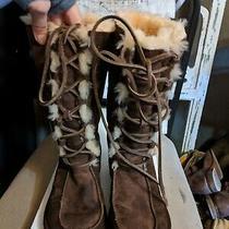 Ugg Australia Tularosa S/n 5190 Brown Suede Sheepskin Lined Boot Womens Sz 6 Photo