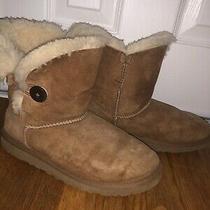Ugg Australia Uggs Womens 5 35 Bailey Button Sheepskin Winter Comfort Boots 5991 Photo
