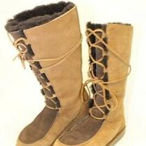 Ugg Australia Uggs Womens 8 39 Whitley Tall Sheepskin Suede Lace Up Boots 5230 Photo