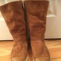 Ugg Australia Us Size 8 Womens Brown Chestnut Suede Sneaker Boots 1886 Photo