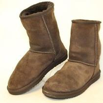 Ugg Australia Used Womens 8 Classic Short 5925 Brown Sheepskin Boots Fp Photo