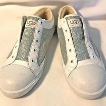 Ugg Australia White Sherpa Lined Womens Sneakerssize 4- Silver Glitter-Euc Photo