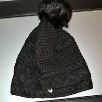 Ugg Australia Winter Beanie Hat Black With Pom Pom One Size Photo
