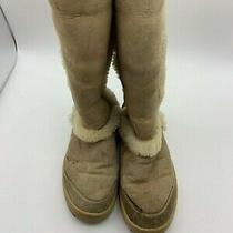 Ugg Australia Woman Winter Boots Sz 6 Outdoor Shoes Leather Sheepskin Slip On Photo