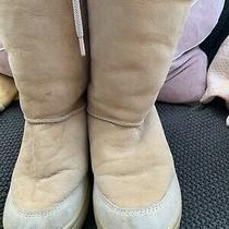 Ugg  Australia Womens Beige Ultimate Tall 5250 Suede Leather Sheepskin Boots W8 Photo