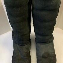 Ugg Australia Women's Boots Classic Tall 5815 Black Suede Winter Boots Shoes 8 Photo