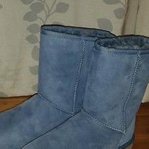 Ugg Australia Women's Classic Short Boots Dolphin Blue Size 9 Photo