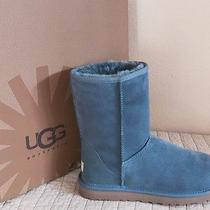 Ugg Australia Womens Classic Short Boots Dolphin Blue Us Size 9 New in Box Photo