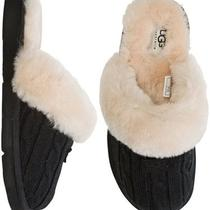 Ugg Australia Women's Cozy Knit Slipper Shoes 18657 Black Sz 5 Retail 120 Photo