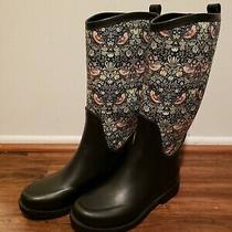 Ugg Australia Women's Floral Rubber Rain Boots Wool Insole Size 5 Photo