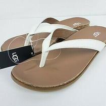 Ugg Australia Women's K Myla White Open Toed Sandal Flat Size 5 Photo