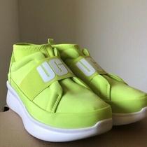 Ugg Australia Women's Neutra Sneaker 1110084 Neon Yellow Neoprene Chunky Photo