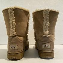 Ugg Australia Womens Size 7 Sundance Short 5343 Tan Winter Boots Sherpa Lined Photo