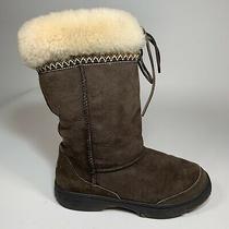 Ugg Australia Womens Size 8 Ultimate Cuff Tie Brown Sheepskin Boots 5273 Photo