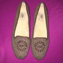 Ugg Australia  Women's Slippers Leather Ballet Flat Shoes Sz10 Photo