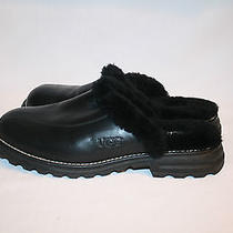 Ugg Australia Women's Slippers / Shoes Leather Size Usa 9  Black Photo