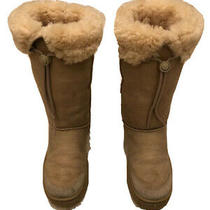 Ugg  Australia Womens Ultimate Tall 5250 Beige Suede Leather Sheepskin Boots W7 Photo