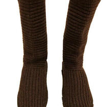 Ugg Australia Womens Brown Knit Sweater Classic Cardy Tall Boots Size 6 S/n 5817 Photo