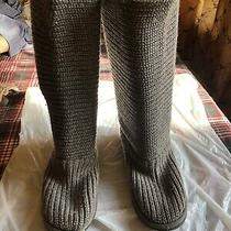 Ugg Australia Womens Cardy Knit Boots Grey 3 Button Mid Calf Sweater Booties Sz8 Photo