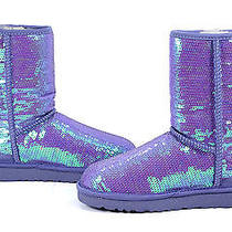 Ugg Australia Womens Classic Sparkles Provence Purple Boot Shoe 9 New Photo