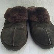 Ugg Australia Womens Coquette Leather Closed Toe Slip on Brown  Size 10 Photo