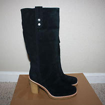 Ugg Australia Womens Josie Boots New Size 7.5 Black Suede Photo