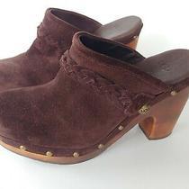 Ugg Australia Womens Kaylee Mule Clog Heels Brown Suede Size 7 Us Photo